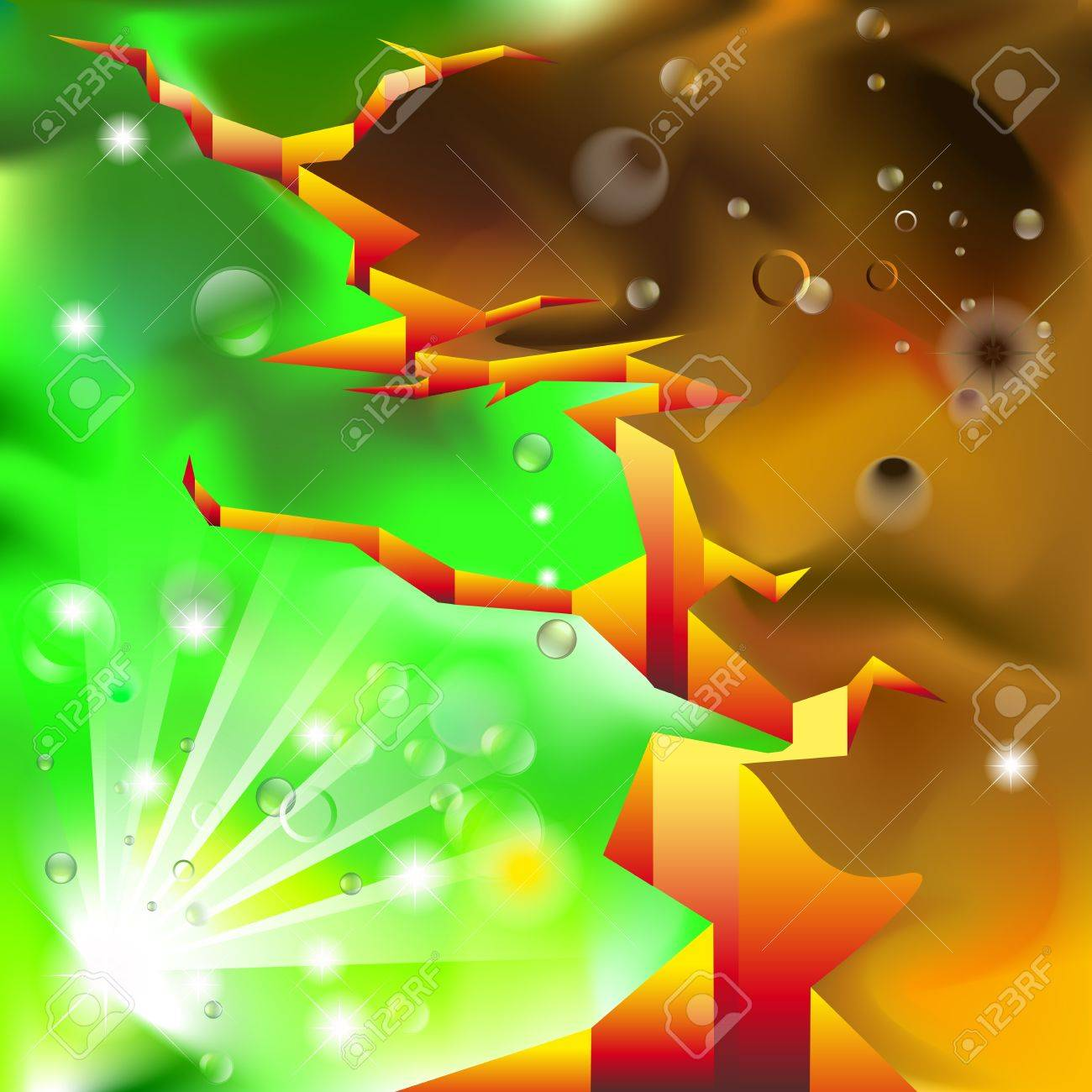Abstract background with Deep crack between life and death Stock Vector - 14190451