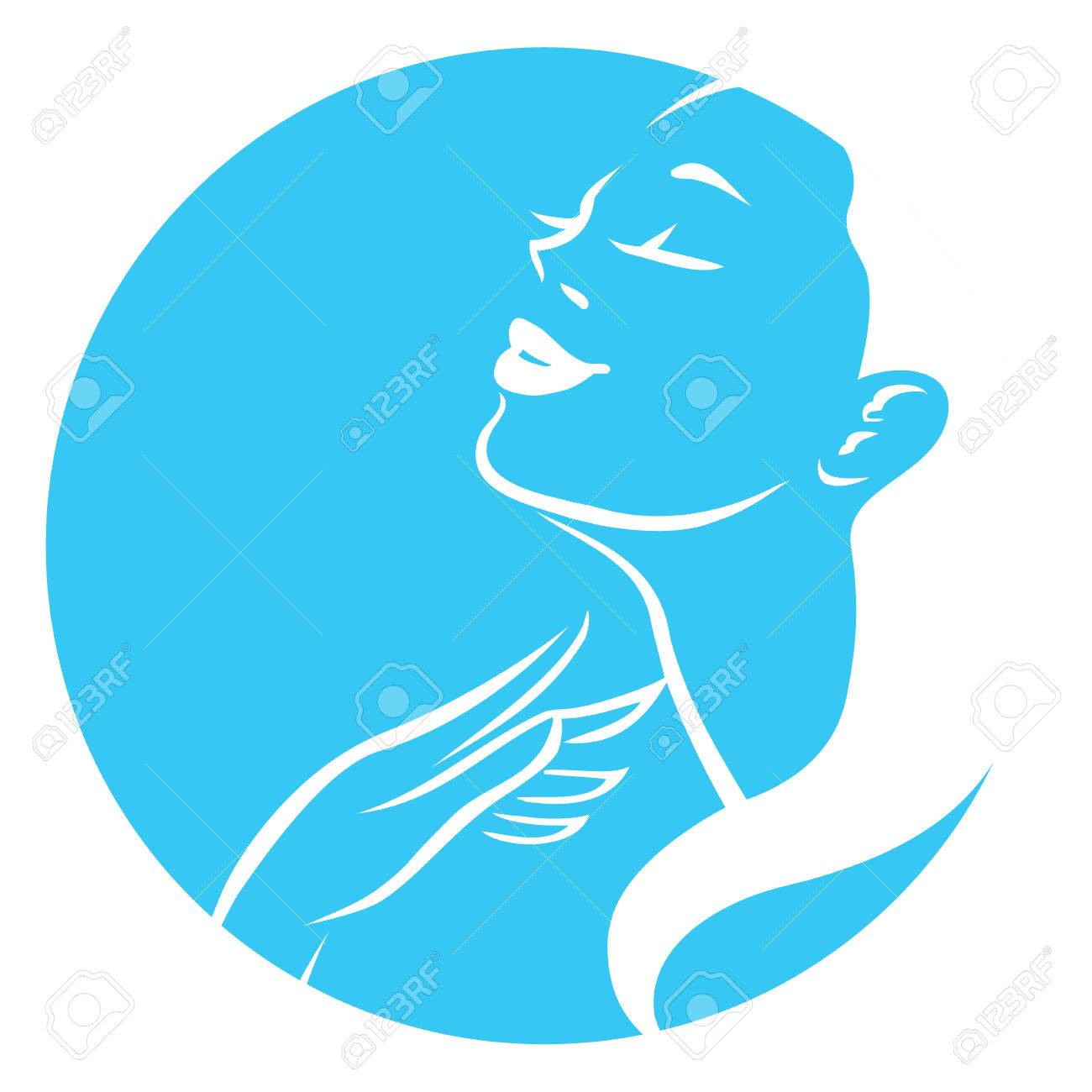 Woman vector symbol design template. Girl profile is suitable for cosmetics, beauty, health,spa, fashion themes. Creative icon - 55706714
