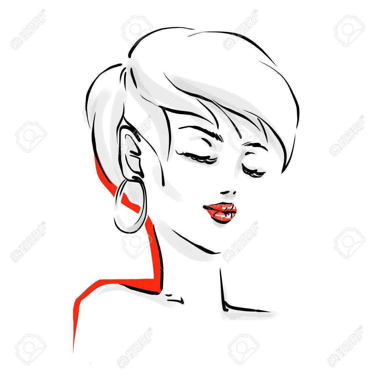 Dibujos De Mujeres Con Cabello Corto