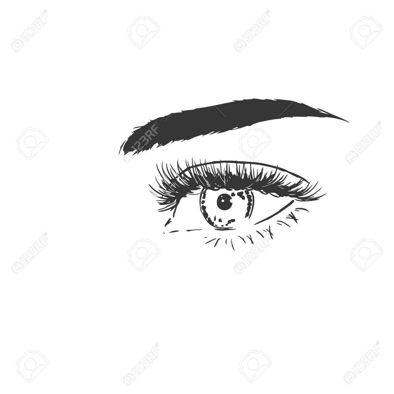 Eye Black and white , Eyes Outline transparent background PNG clipart |  HiClipart