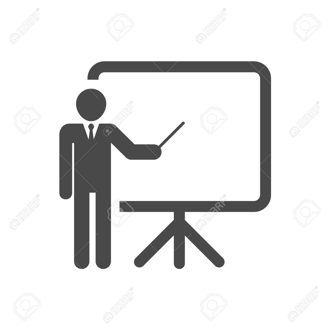 training presentation and education icon vector illustration