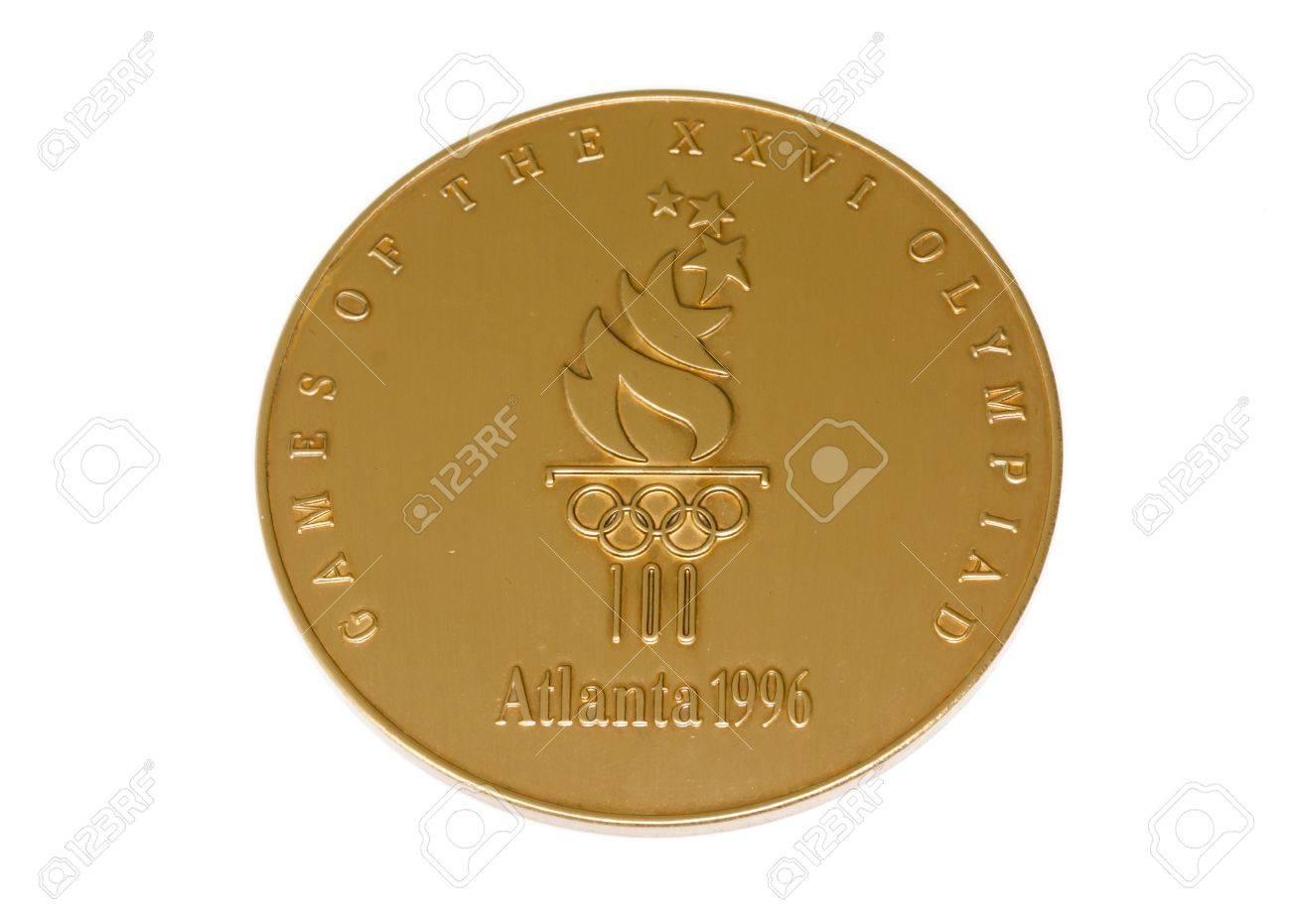 Atlanta 1996 Juegos Olímpicos Participación Medalla De Anverso ...