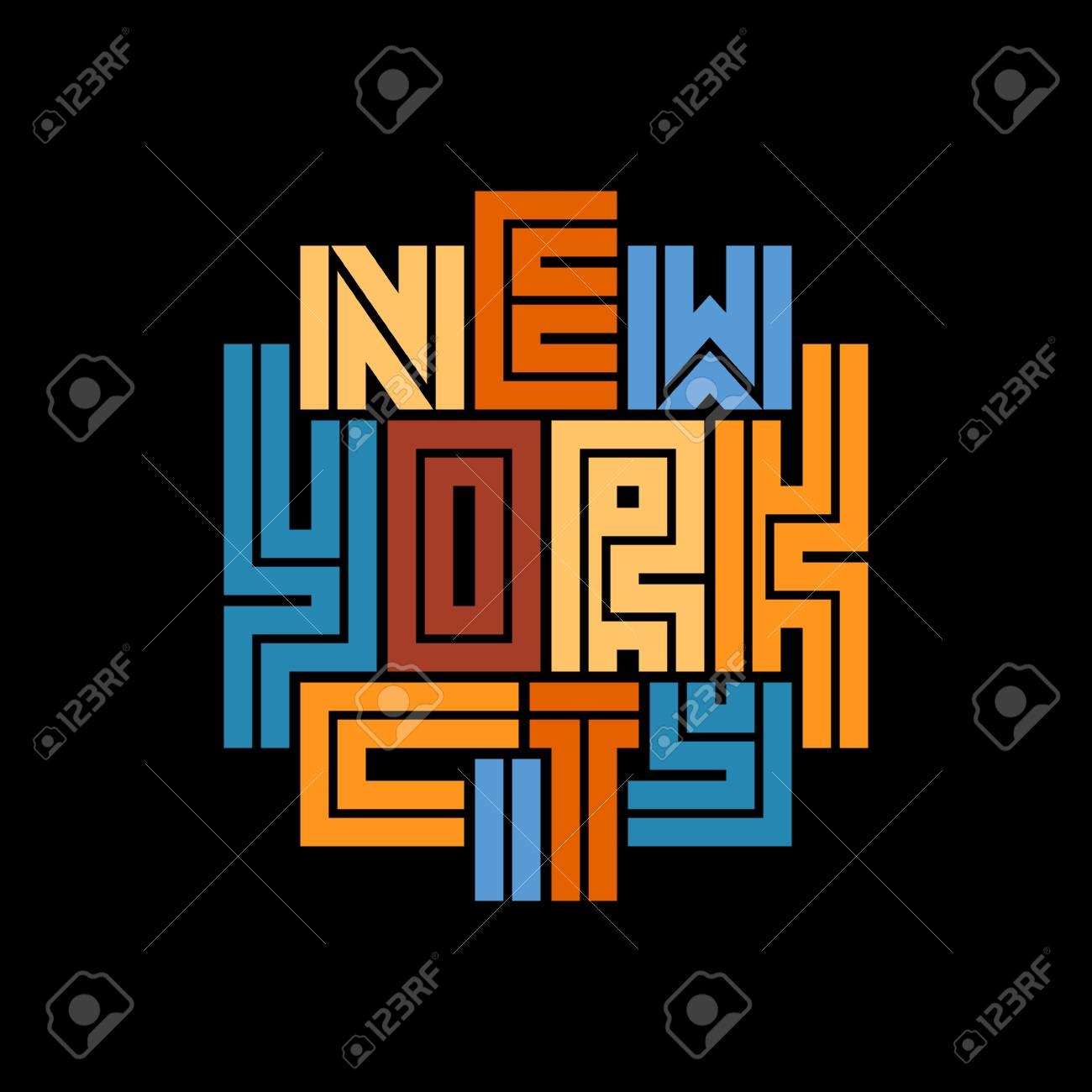 New York City Typography Poster Concept For Print Production Royalty Free Cliparts Vectors And Stock Illustration Image 97271091