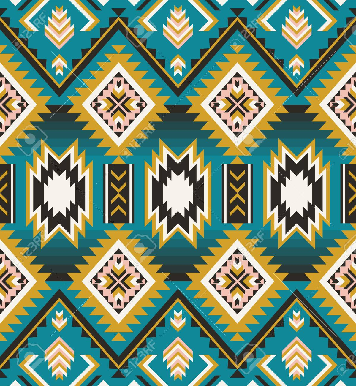 picture about Native American Designs Printable called Aztec geometric seamless habit. Indigenous american, indian southwest..