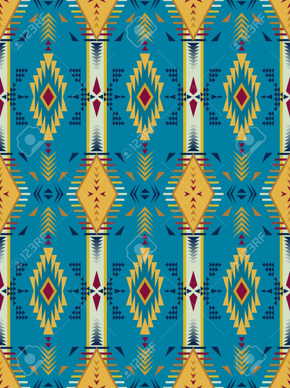 photo relating to Native American Designs Printable known as Aztec geometric seamless routine. Indigenous american, indian southwest..