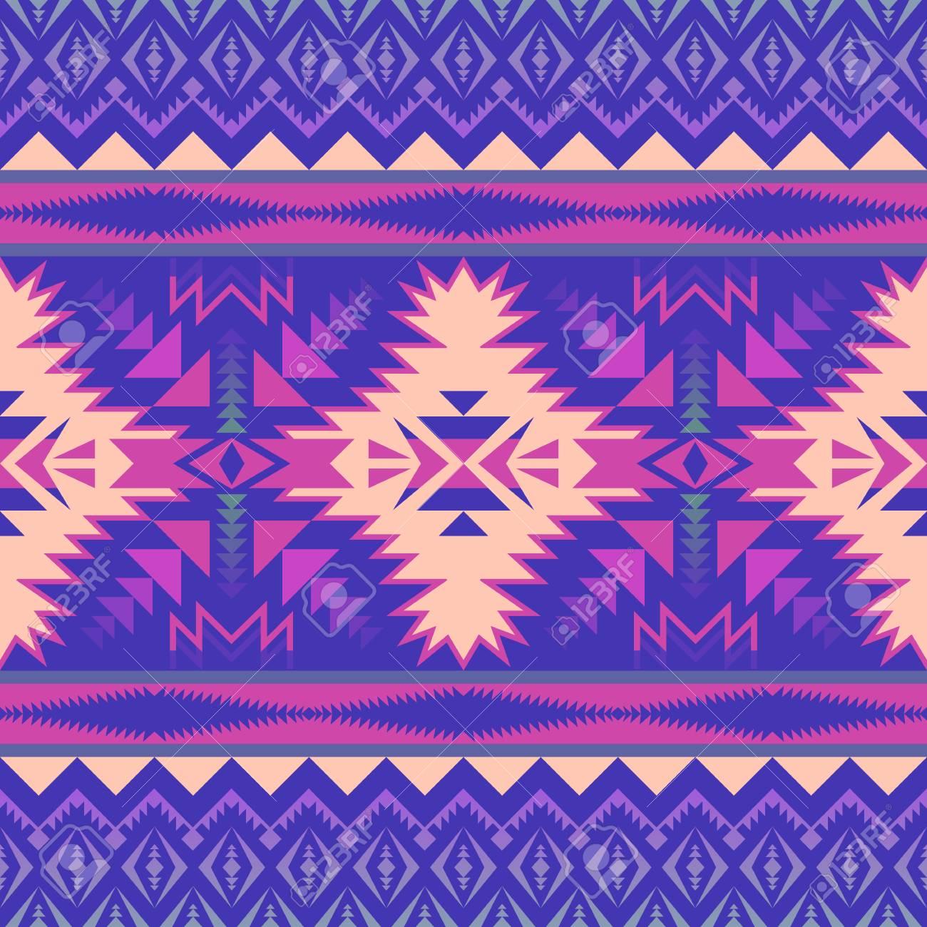 Aztec Geometric Seamless Pattern. Native American, Indian ...
