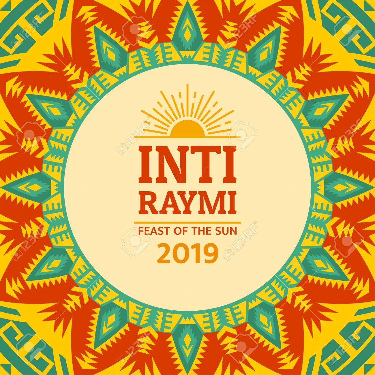 Religious festival Inti Raymi. Inca celebration of the Sun. Pagan holiday in Peru. - 122837780