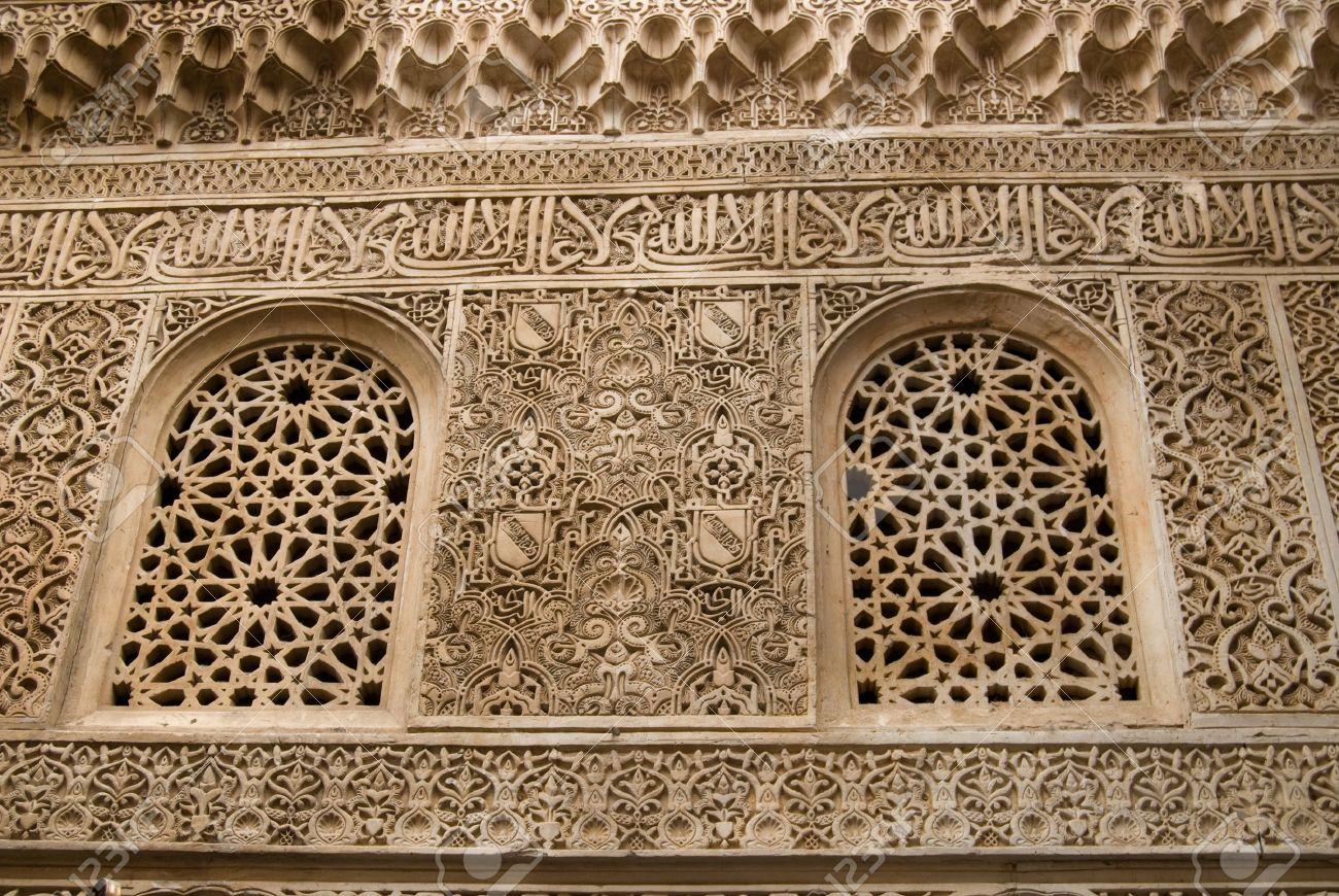 islamic art in alhambra granada spain stock photo picture and