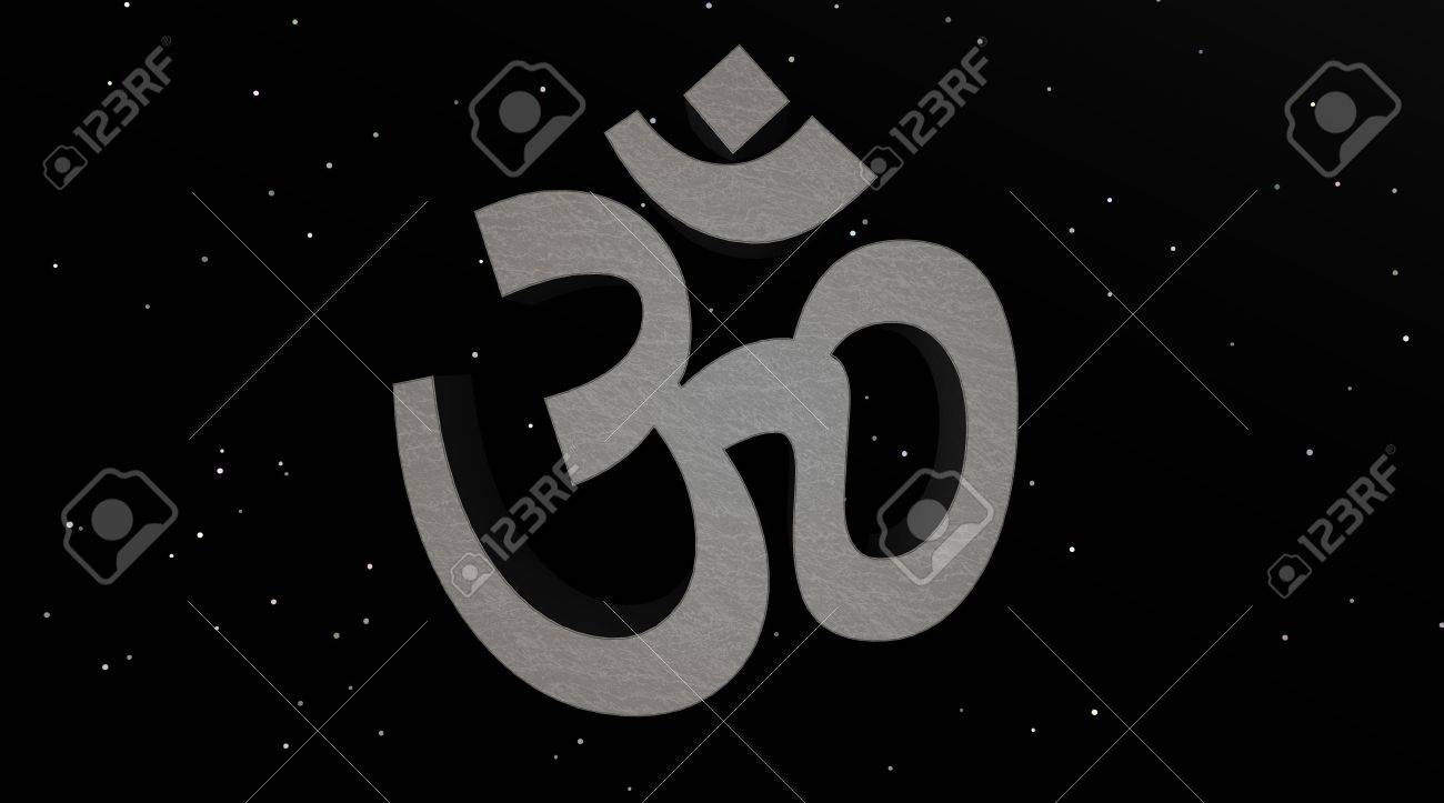 Grey aum / om in the night Stock Photo - 5519330