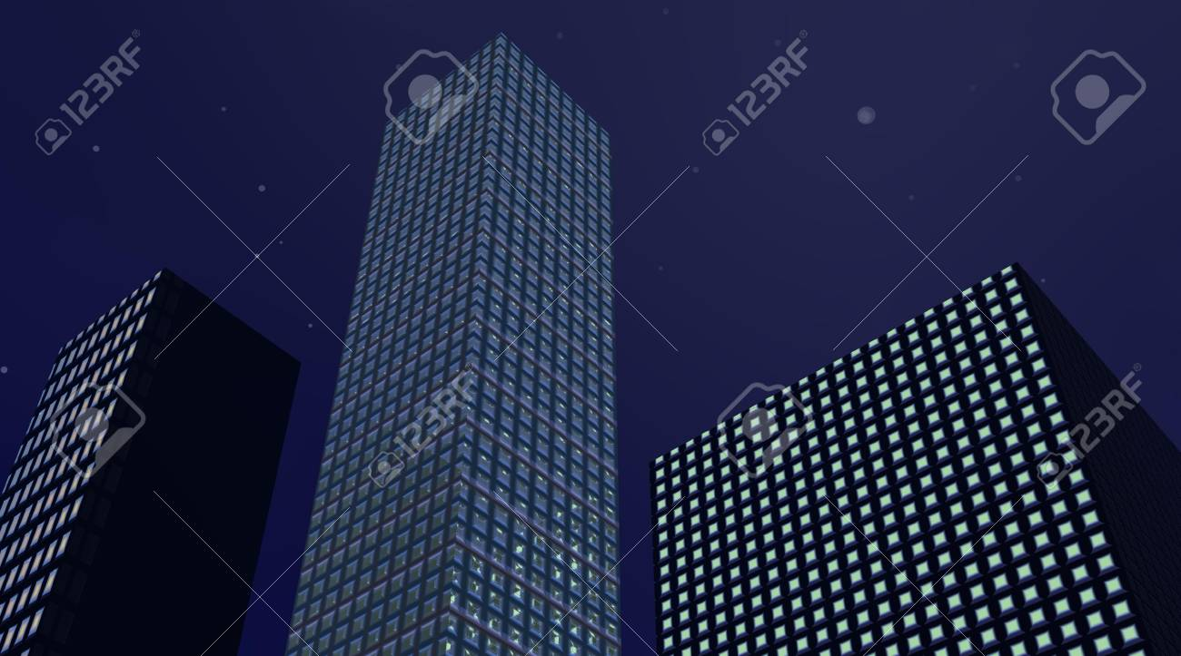 Buildings in the night Stock Photo - 5662946