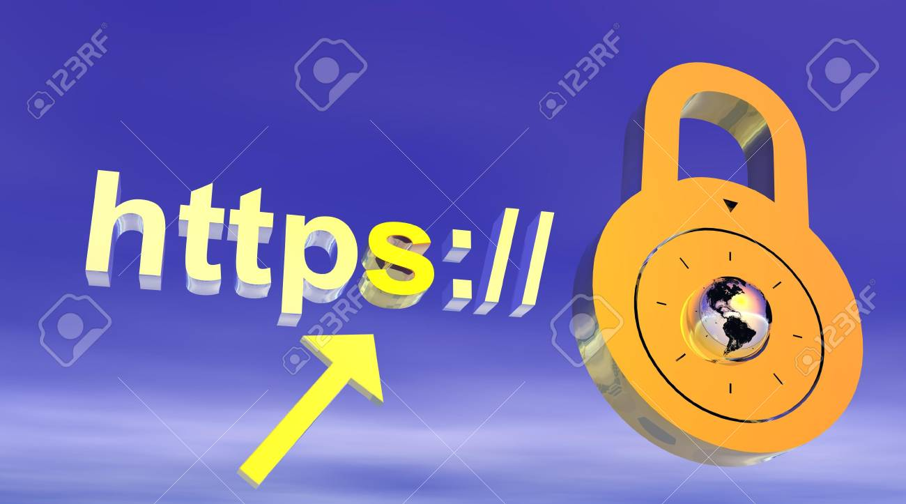 Internet secure address with padlock Stock Photo - 6124201