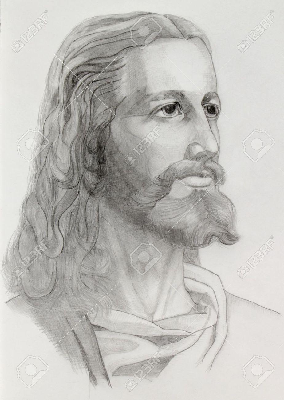 Crayons Gris Dessin De Jesus Banque D Images Et Photos Libres De