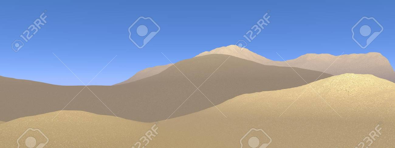 Sand dunes in the desert by beautiful day Stock Photo - 16250604