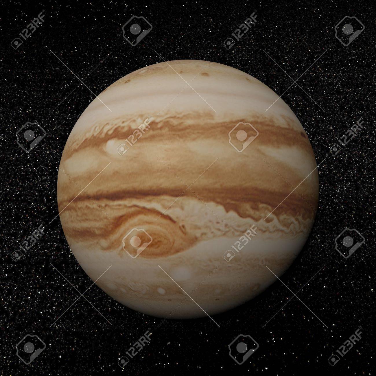 ジュピターの惑星の星のたくさん...