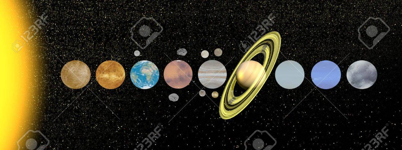 Palnets of solar system with moon and satellite in the universe palnets of solar system with moon and satellite in the universe stock photo 18303357 publicscrutiny Choice Image