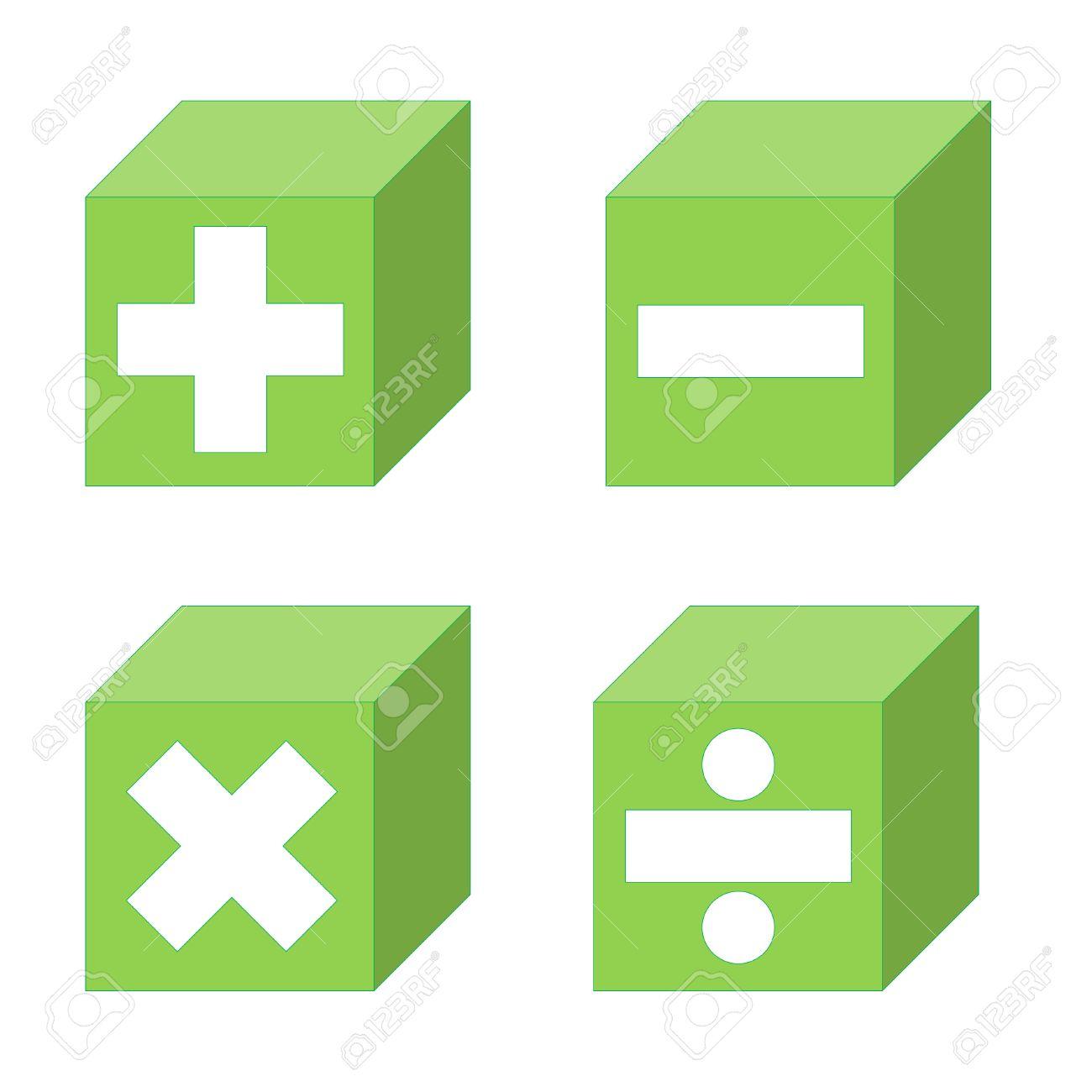 Math Symbole Der Addition Subtraktion Multiplikation Und Division
