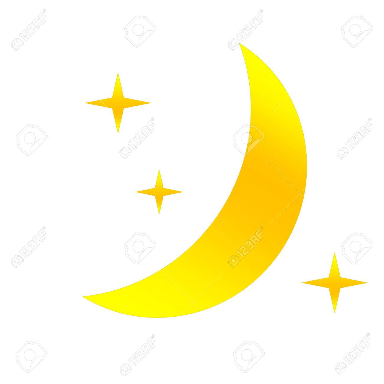 Half yellow moon and stars as weather icon in white stock photo half yellow moon and stars as weather icon in white stock photo 26058340 biocorpaavc
