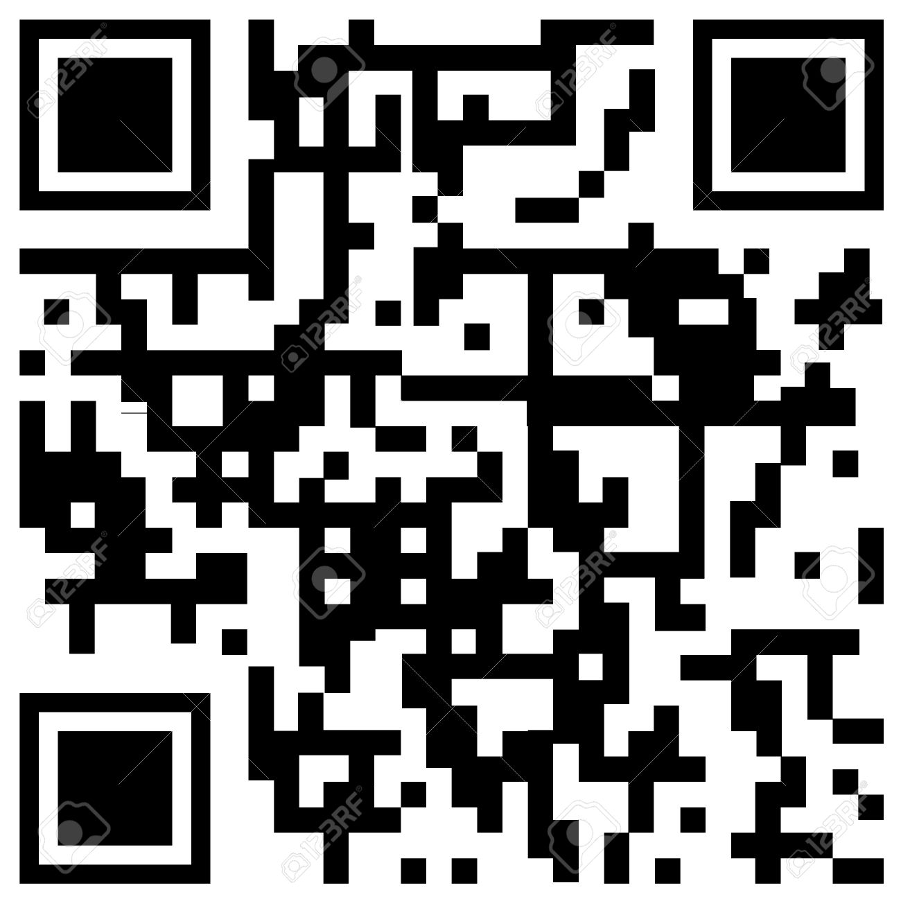 Sample qr code to scan with smart phone in white background