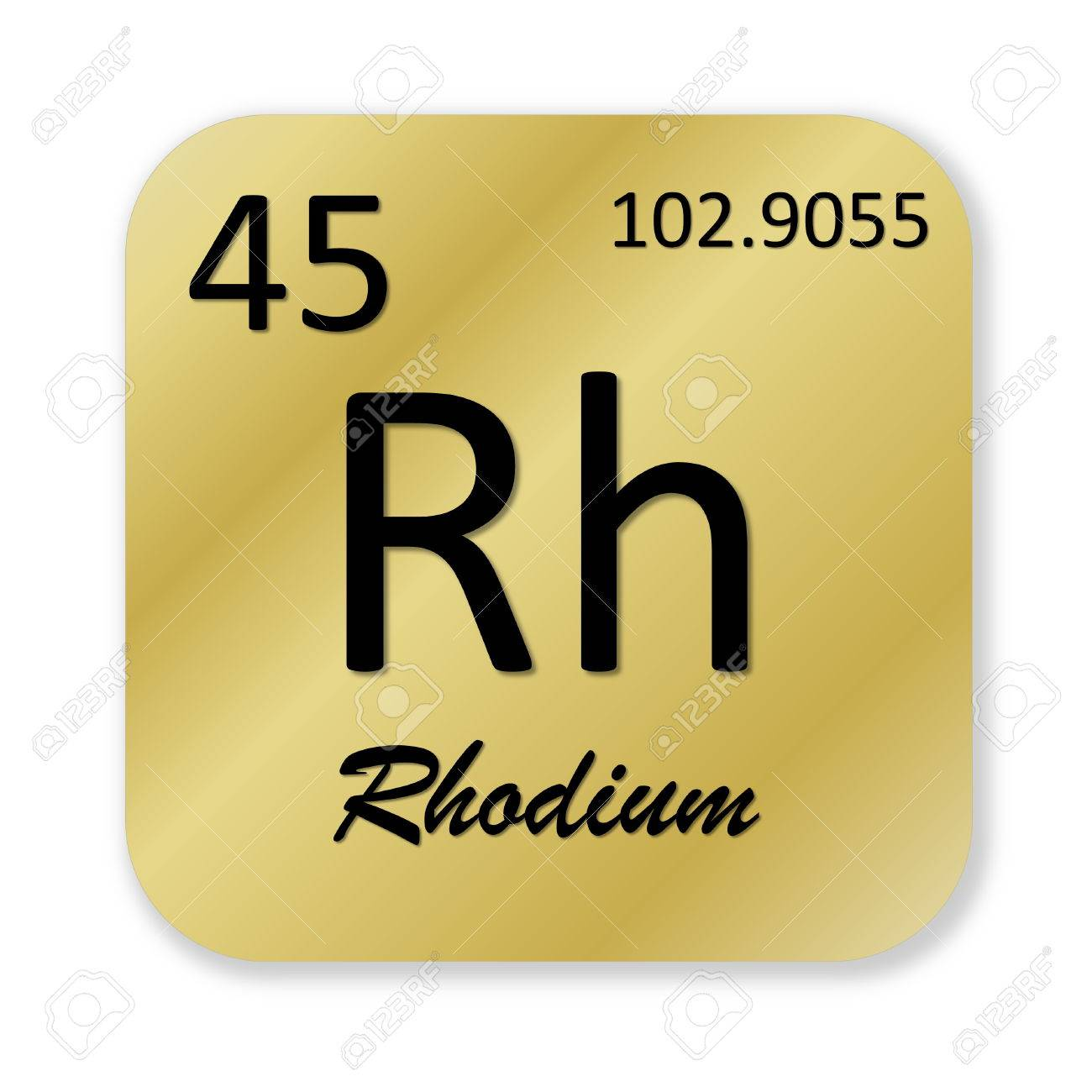 112 rhodium stock vector illustration and royalty free rhodium clipart black rhodium element into golden square shape isolated in white background stock photo gamestrikefo Image collections