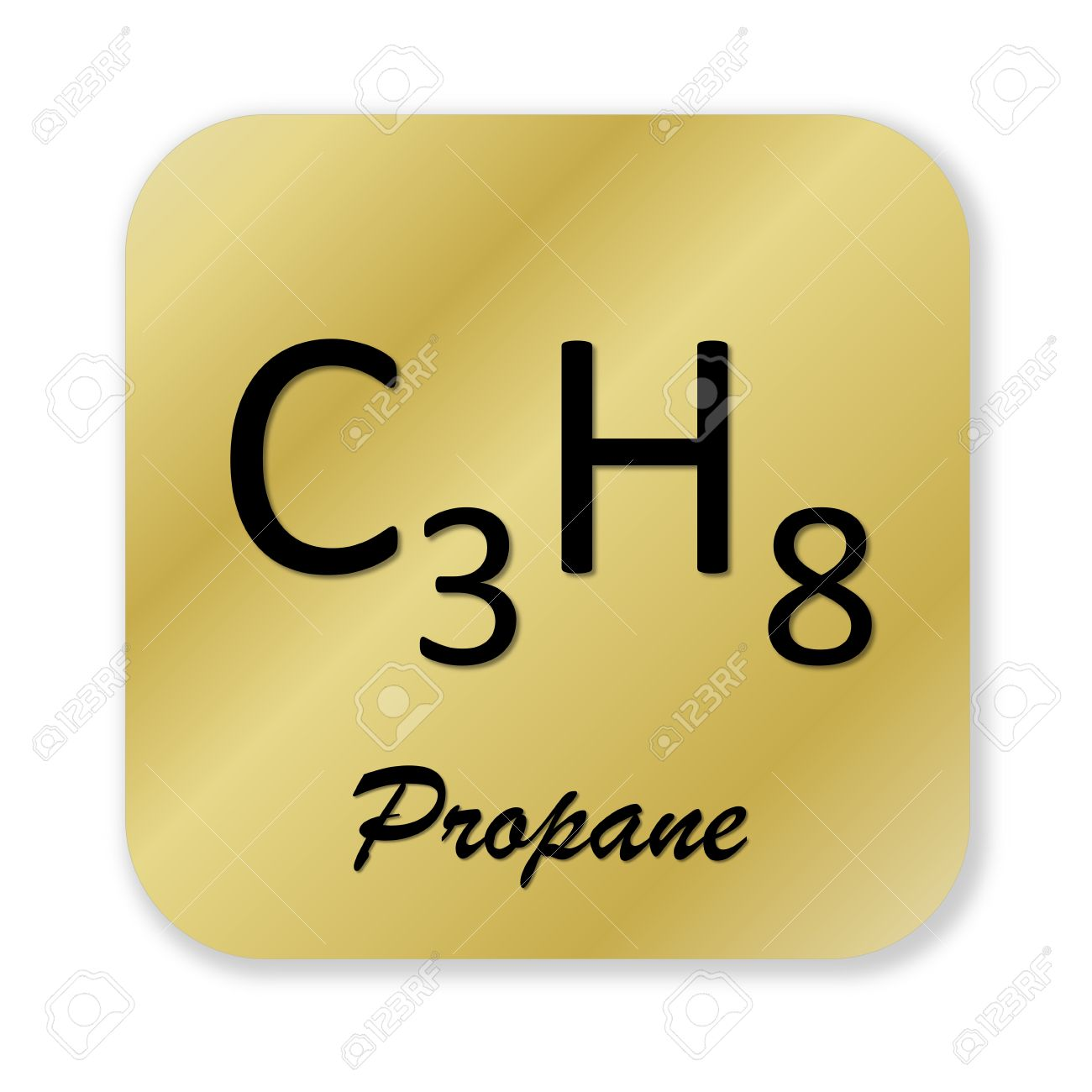 Golden chemical formula of propane symbol isolated in white golden chemical formula of propane symbol isolated in white background stock photo 47215788 buycottarizona