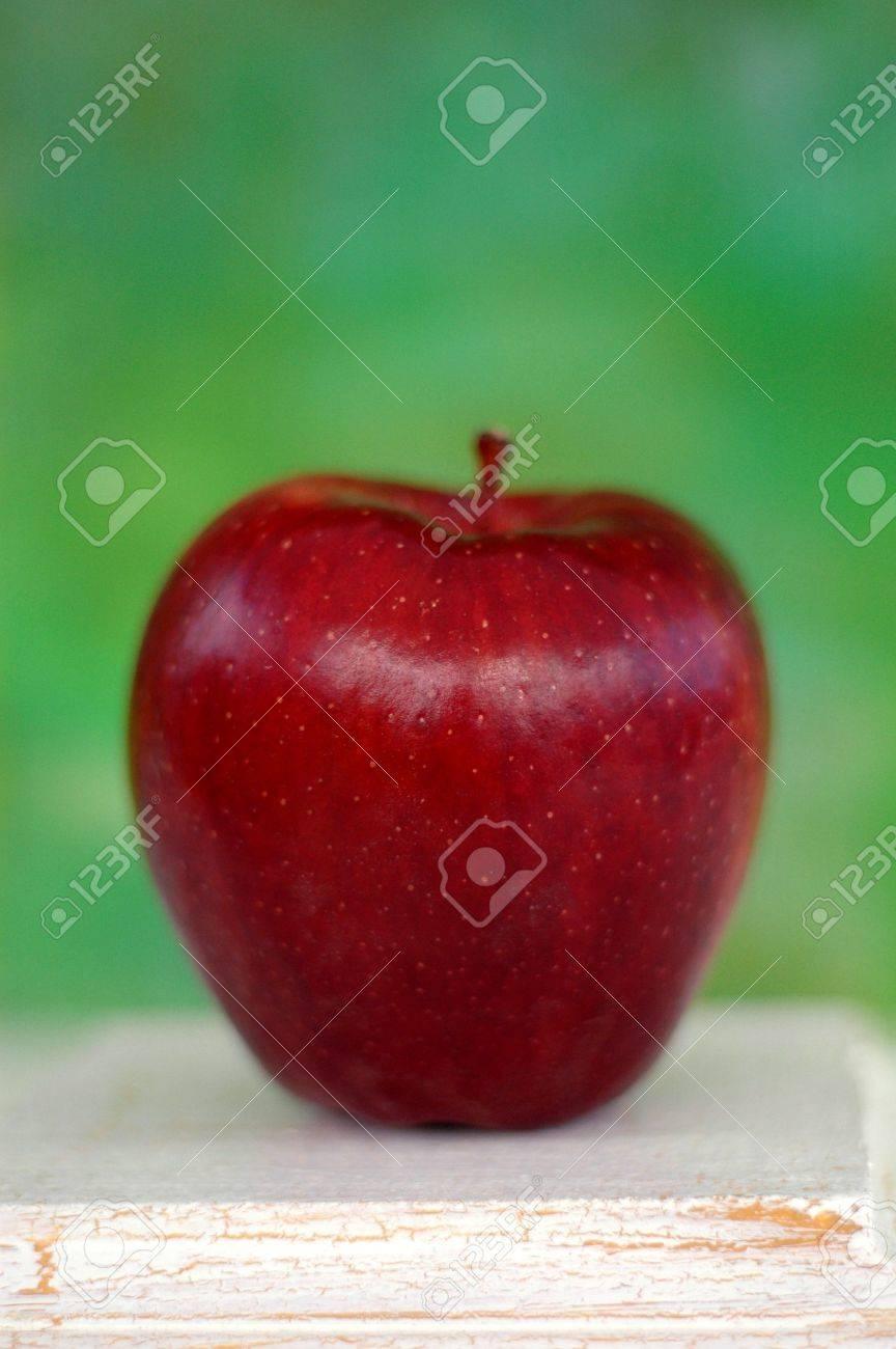 Immagini Stock Red Delicious Apple Fotografato Con Un Dipinto