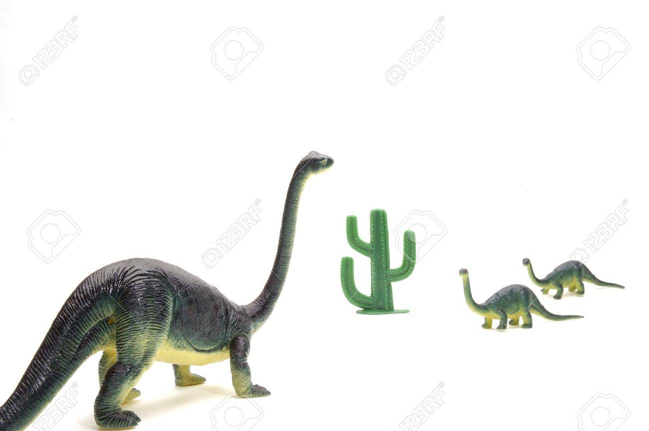 Brontosaurous Family come together. Stock Photo - 327571