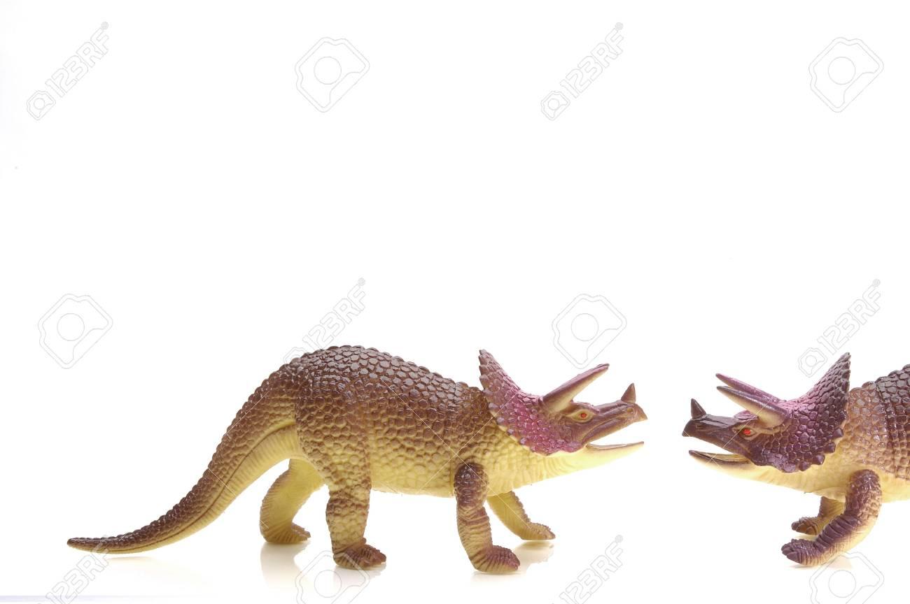 Triceritops meet. Plastic toy. Stock Photo - 327568