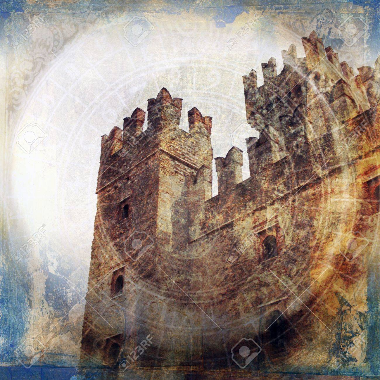 Midieval fortress. Photo based illustration. - 5169123