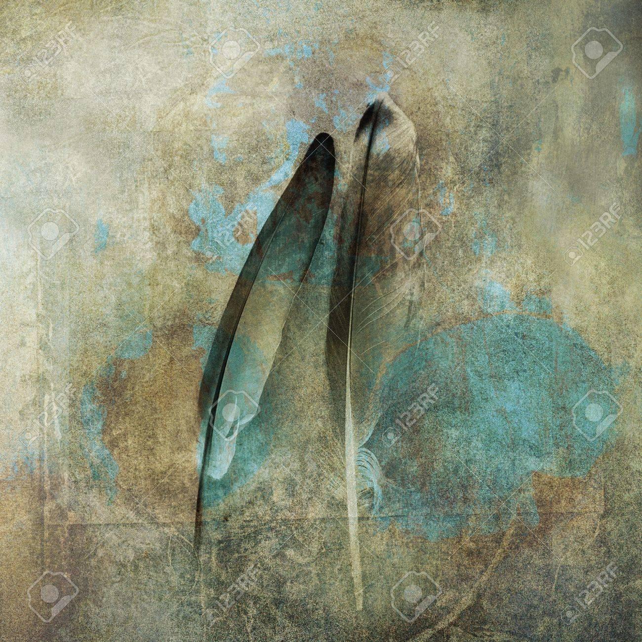 Two feathers. Photo based illustration. - 5169129