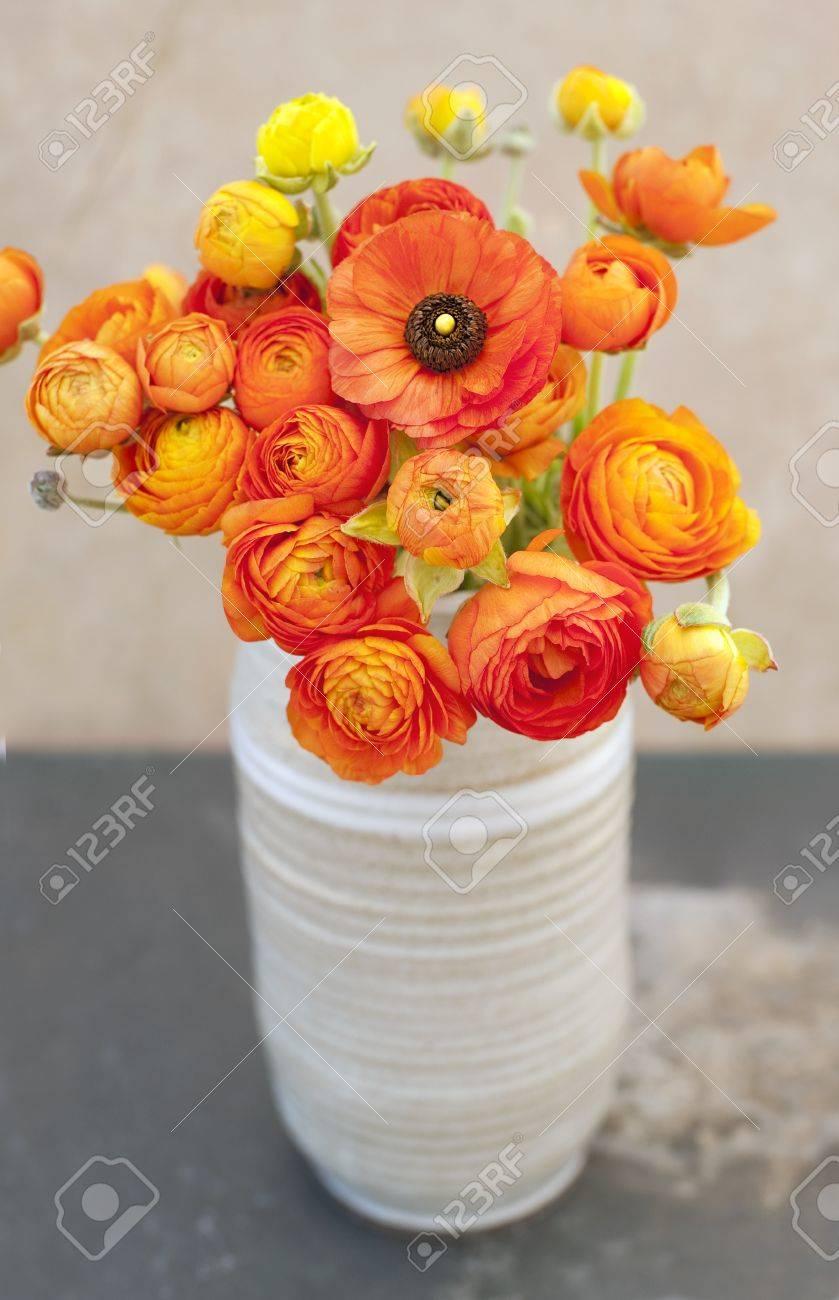Ranunculus flowers in a vase - 15512566