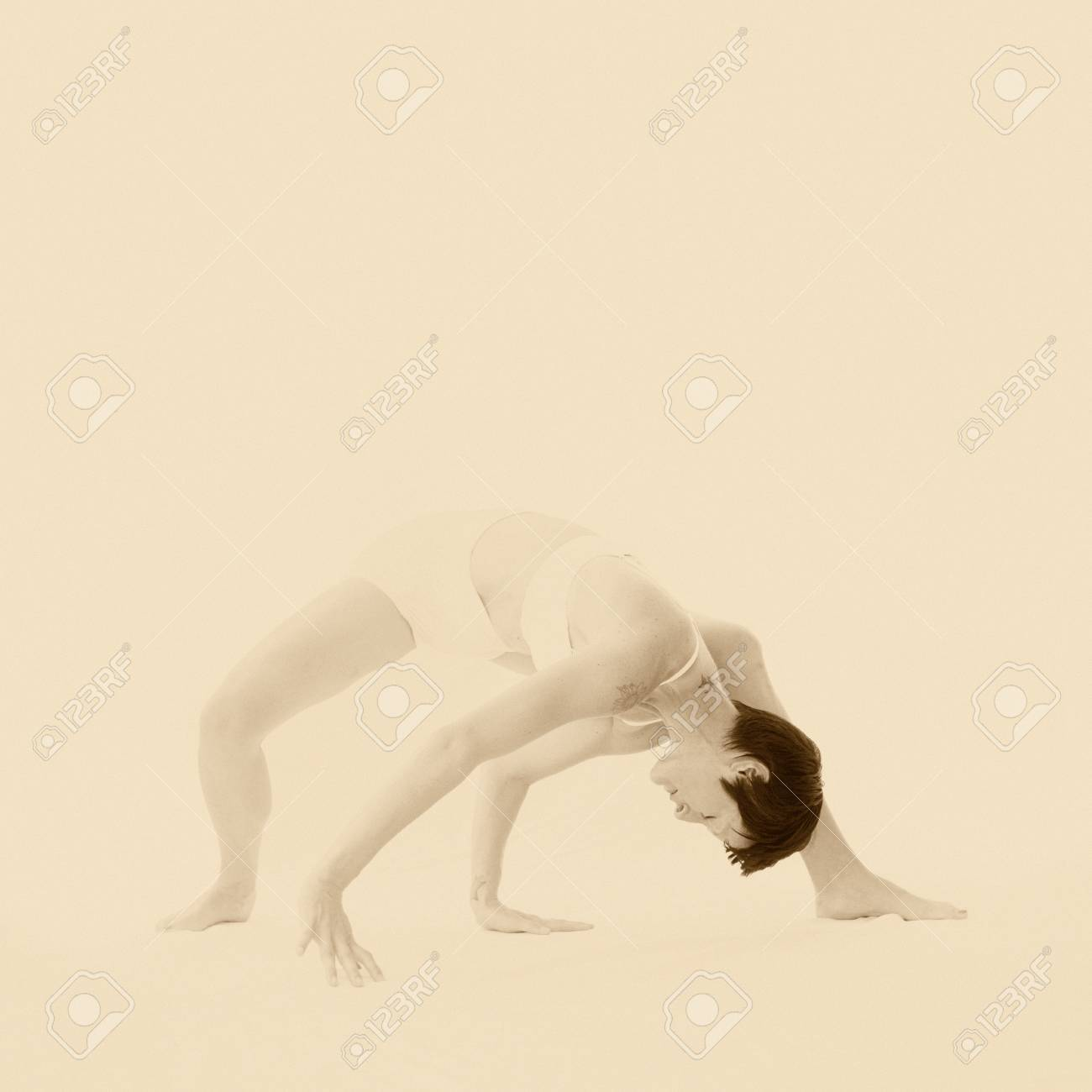 Modern dancer in introspective yoga informed movement Stock Photo - 17124087