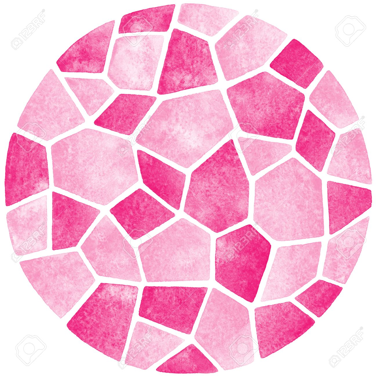 Abstract watercolor background circle shape polygonal mosaic abstract watercolor background circle shape polygonal mosaic pattern ceramic tile or inlay stylization doublecrazyfo Images