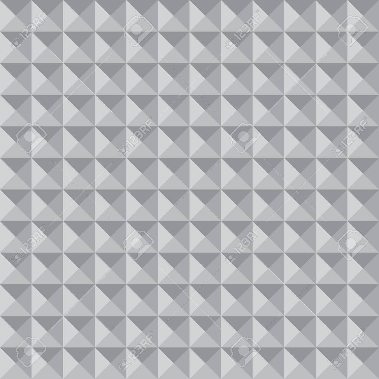 Monochrome Triangles Vector Seamless Pattern Volume Optical Illusion Shades Of Grey Stock Vector
