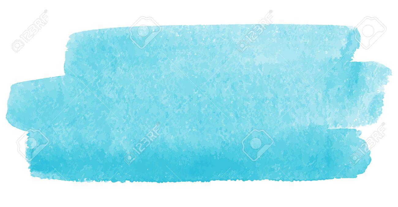 Pincelada Acuarela Vector De Color Azul Celeste Un Pedazo De Cielo - Color-azul-celeste
