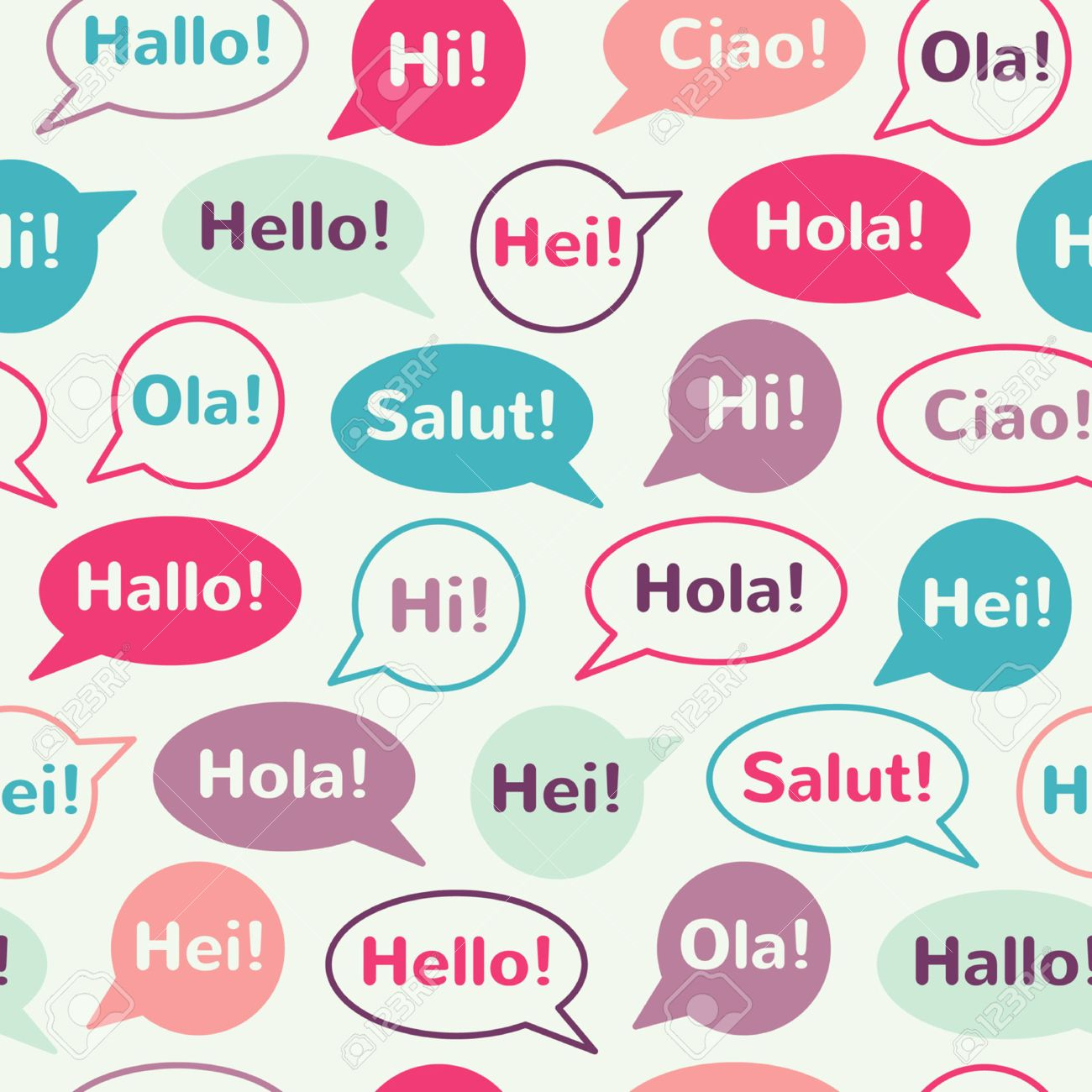 Speech bubbles with greetings in different languages english speech bubbles with greetings in different languages english french german italian m4hsunfo