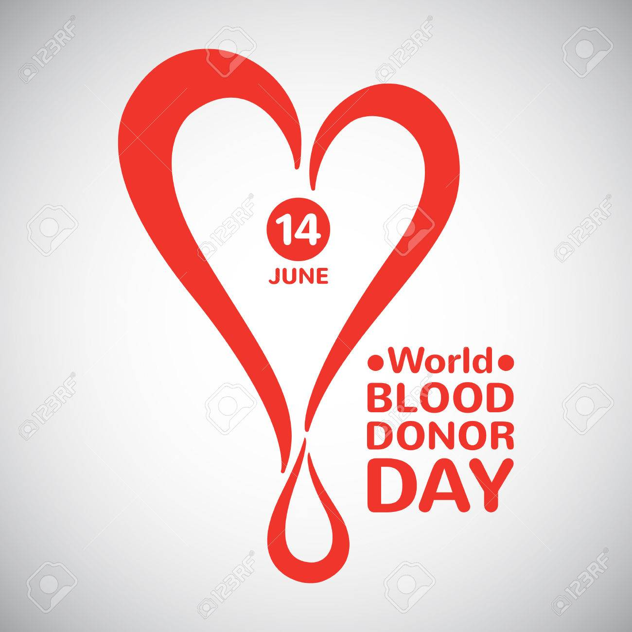 World blood donor day illustration stylized heart with drop world blood donor day illustration stylized heart with drop date and typographic composition blood buycottarizona