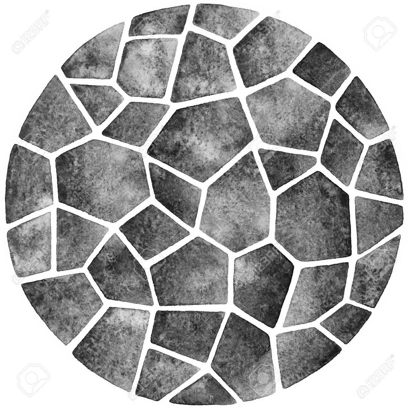 Плитка круглый декор