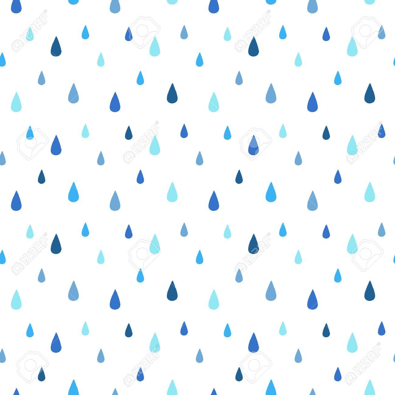 雨のシームレス パターン。流れ落ちる水を削除します。青の色合い。雨
