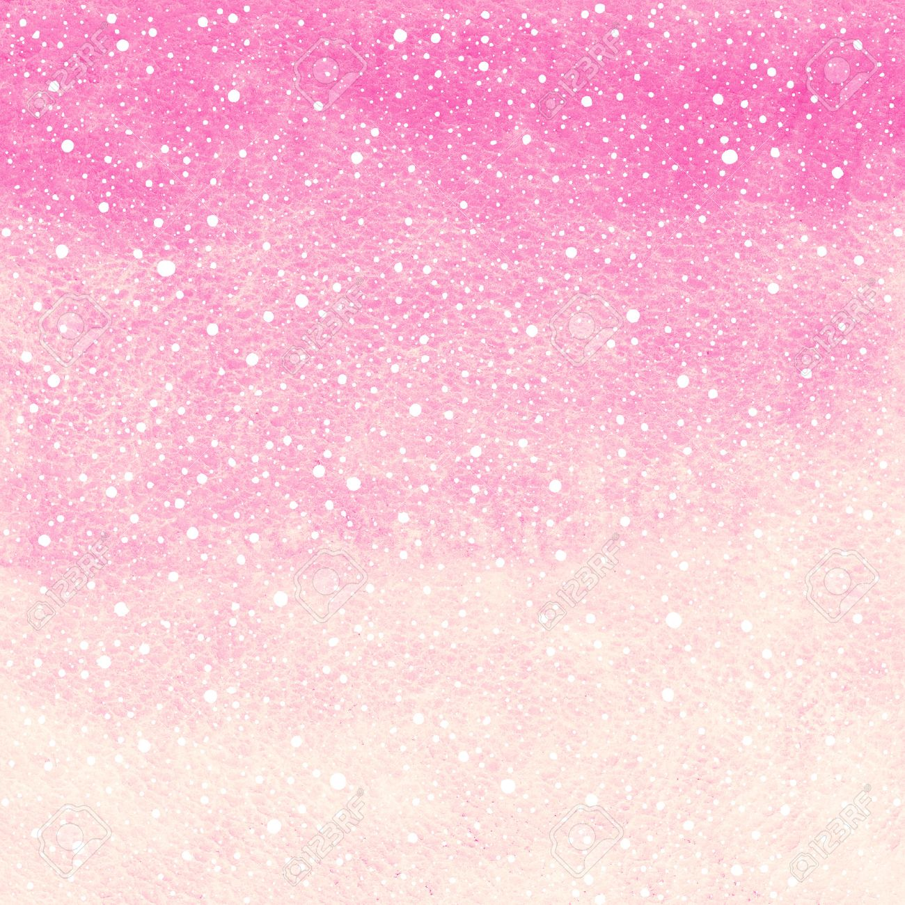 soft pink winter watercolor abstract background with falling stock
