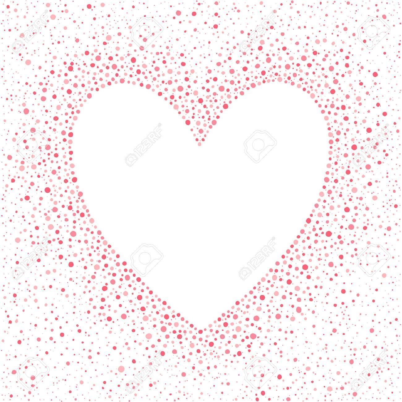 Gran Marco En Forma De Corazón Con El Espacio Vacío Para Sus Saludos ...