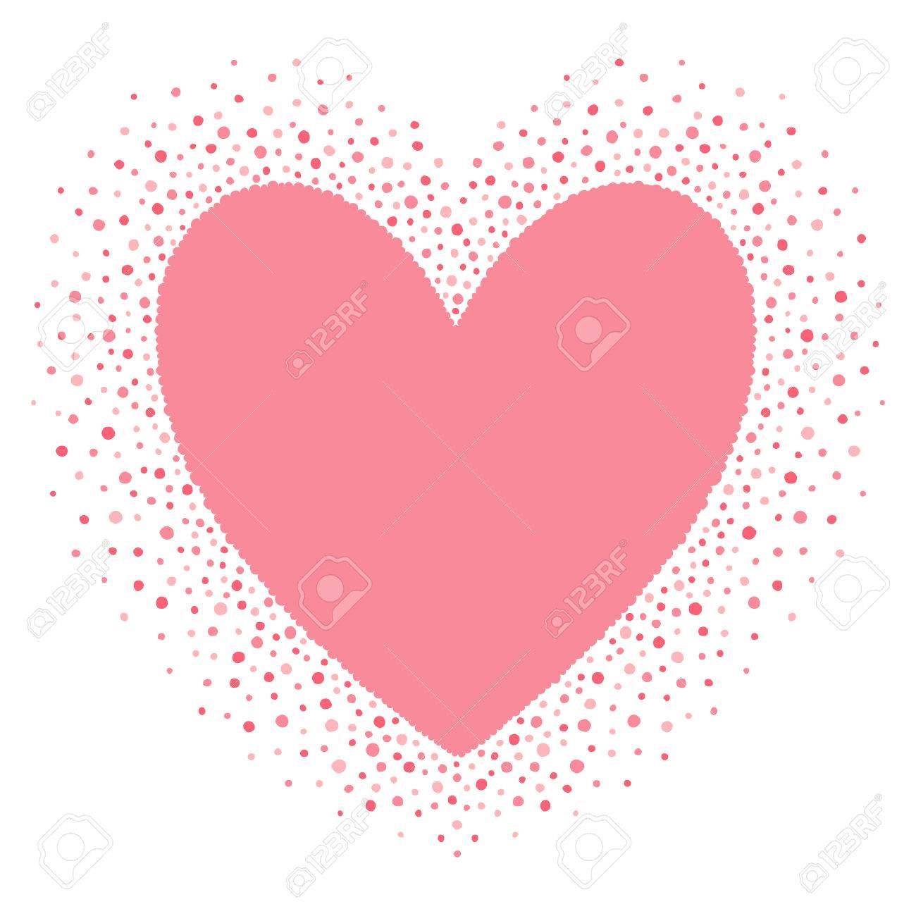 Großes Herz-Form-Rahmen Mit Leeren Platz Für Ihre Grüße ...