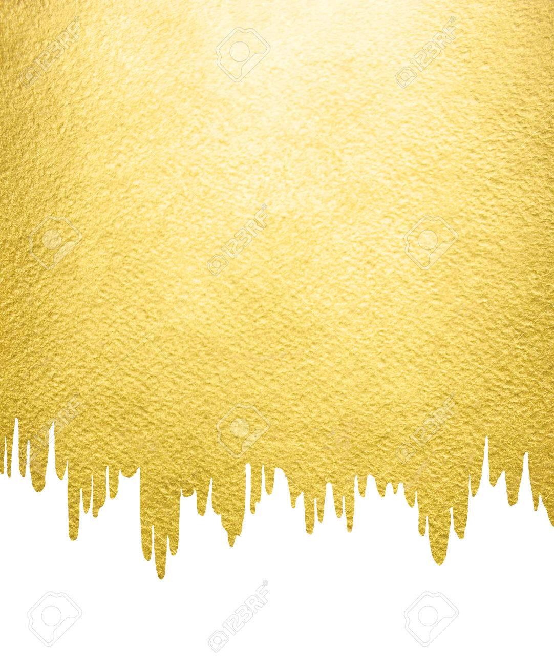 gold background with liquid melting uneven edge gold template