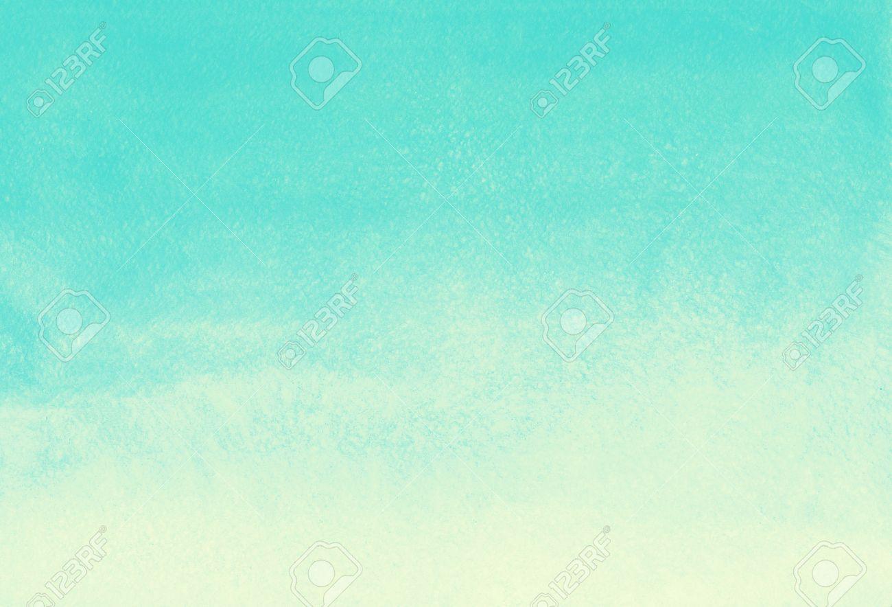 Aquarell Gradienten Abstrakten Hintergrund. Mint Grün Und Gelb ...