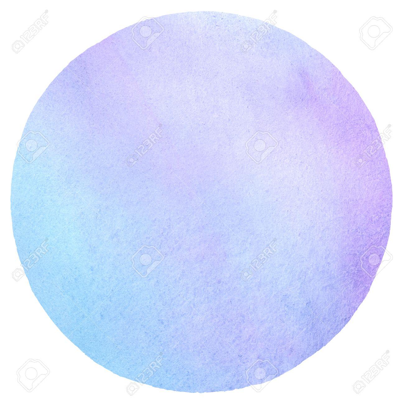 Couleur Avec Bleu Ciel cercle coloré avec des taches de fond d'aquarelle. couleurs pastel légères.  violet, bleu ciel, lilas. aquarelle modèle rond pour votre conception. la