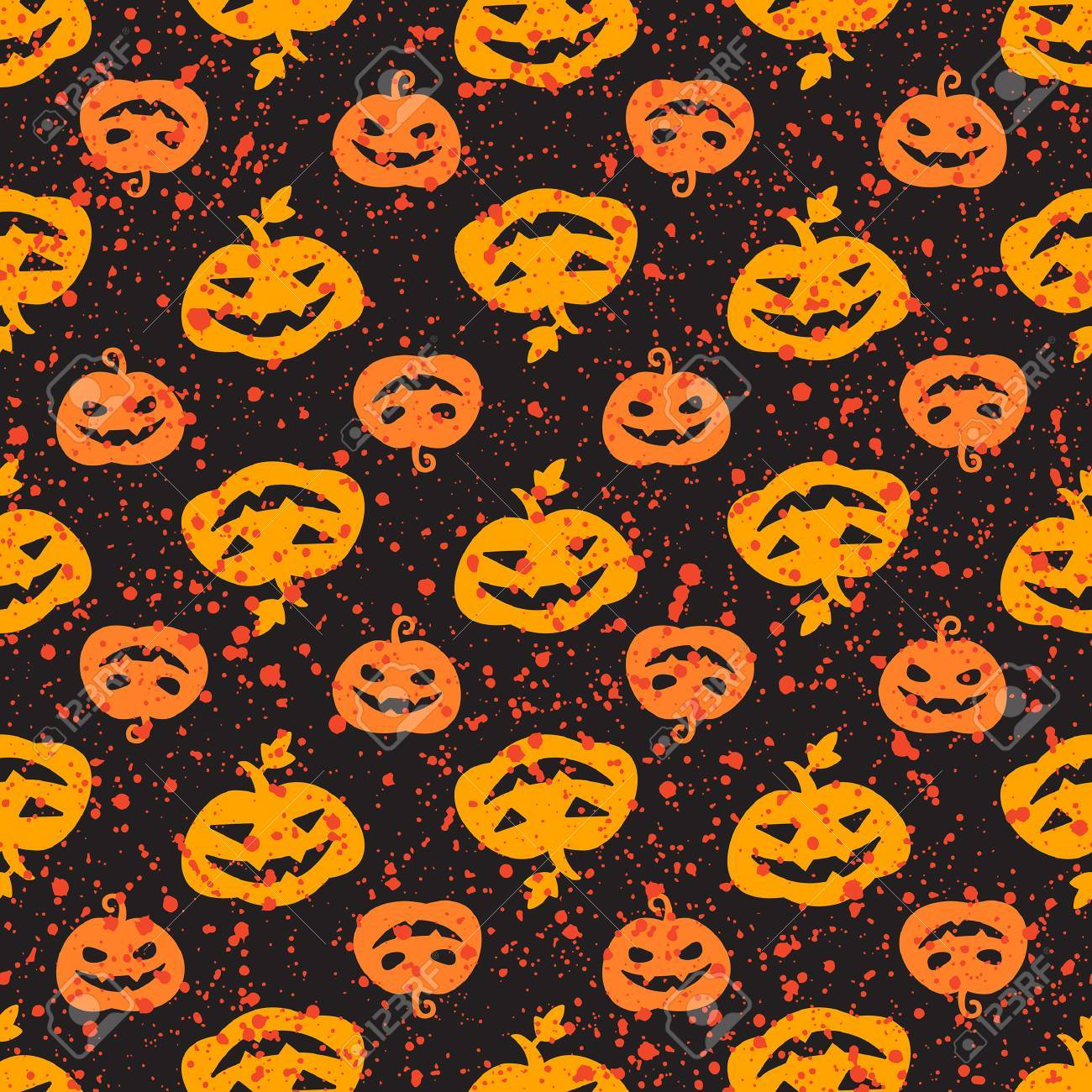 Halloween Pumpkin Seamless Vector Pattern Cute And Funny Jack Royalty Free Cliparts Vectors And Stock Illustration Image 62931589