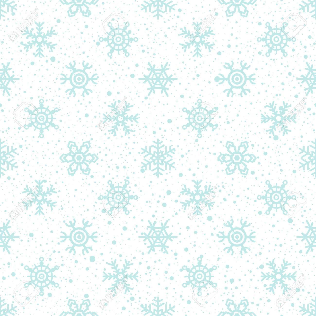 Textura De La Nieve Y Los Copos De Nieve Sin Fisuras Patrón ...