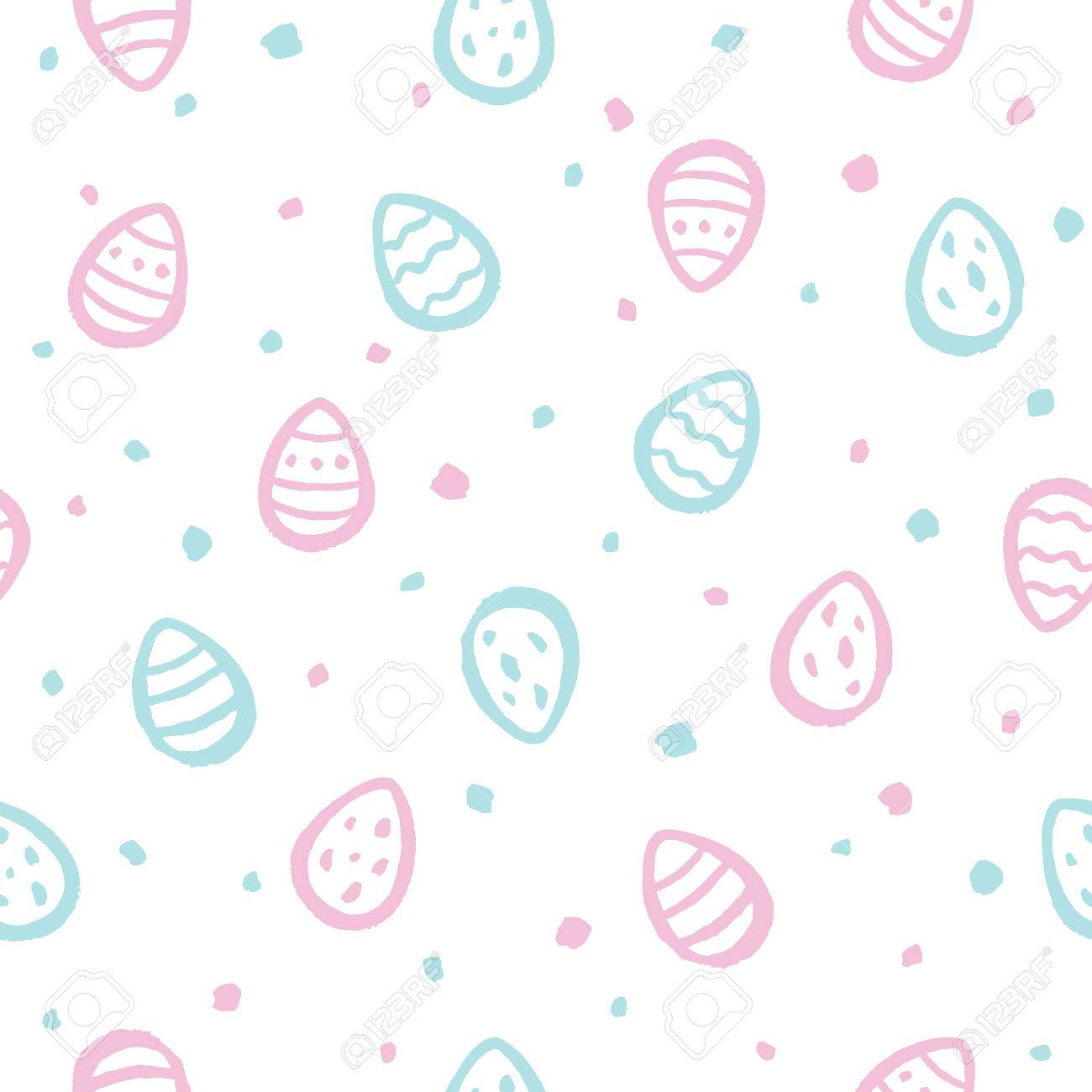 tiny brush drawn easter eggs and specks flecks spots seamless