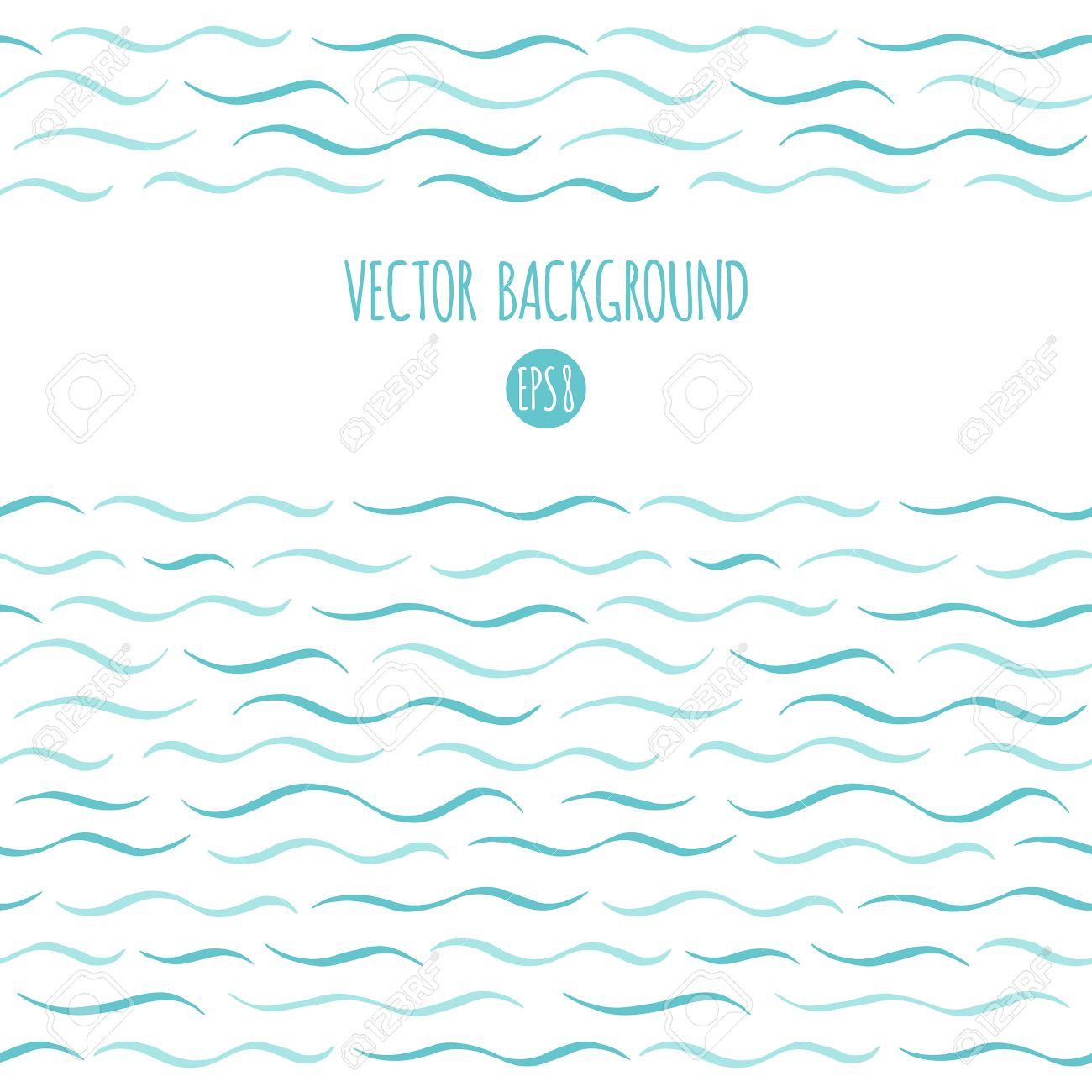 Waves Vector Background. Marine, Maritime, Sea, Ocean Seamless ...