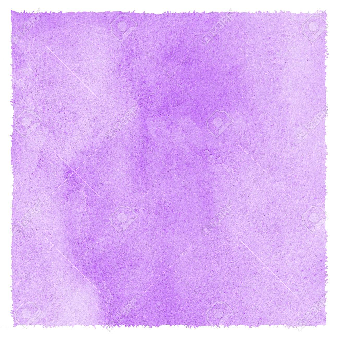 Lilac Lavender Watercolor Stains Easter Background With Rough