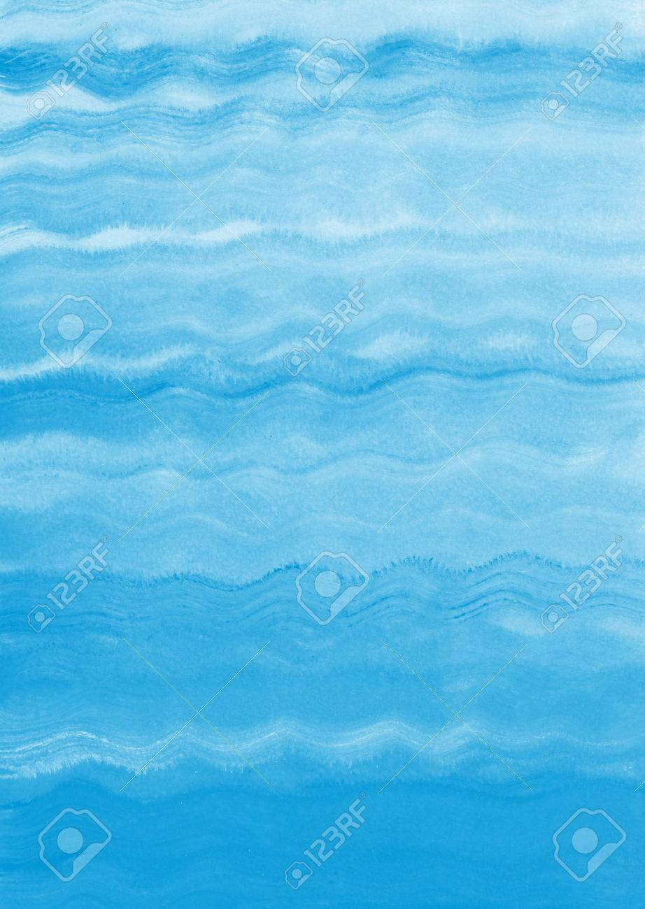 Painted sea, ocean, river, swimming pool waves background. Acrylic..